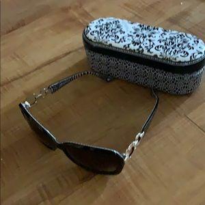 Beautiful black BRIGHTON SUNGLASSES Plus Case!!